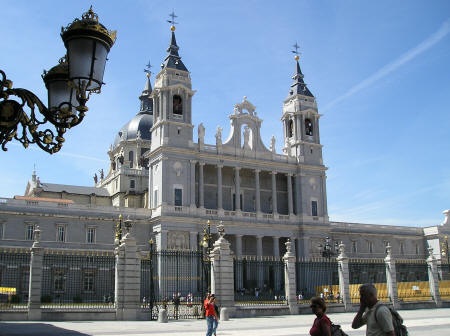 Almudena Cathedral in Madrid Spain