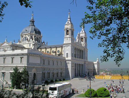 Cathedral in Madrid Spain