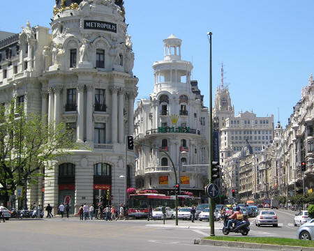 Edificio Metropolis in Madrid Spain