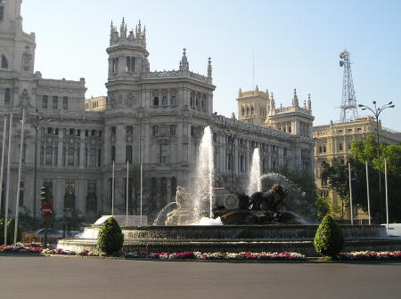 Plaza de Cibeles in Madrid Spain