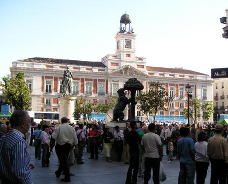 Puerta del Sol in Madrid Spain