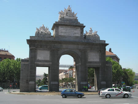 Puerta de Toledo in Madrid Spain