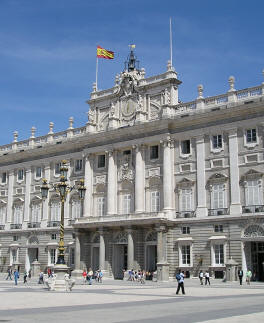 Royal Palace District of Madrid Spain